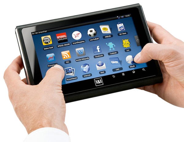 Billedet viser en tablet
